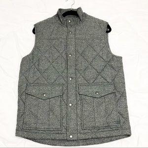 Banana Republic Men's Grey quilted vest
